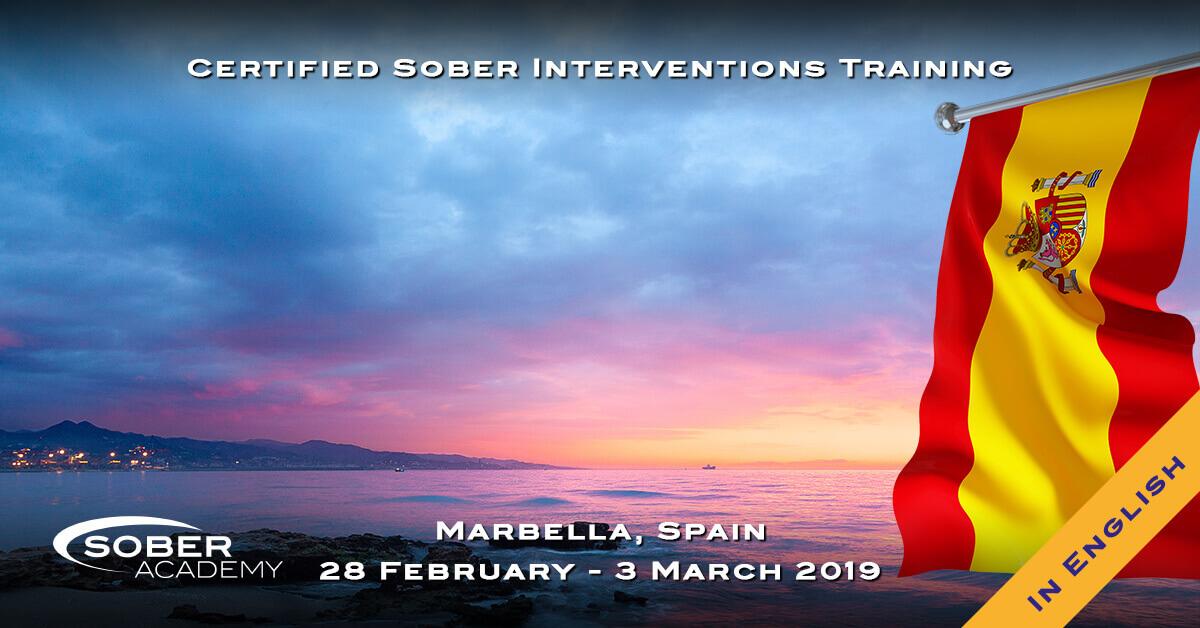 Sober Intervention Training Marbella, Spain