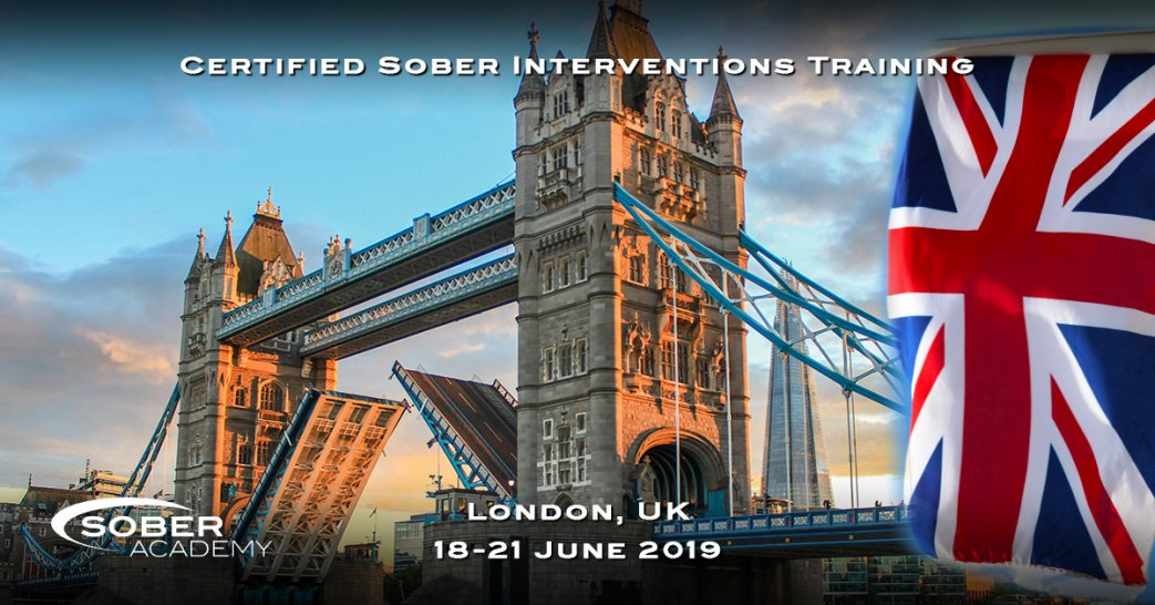 Certified Sober Intervention Training London June 2019