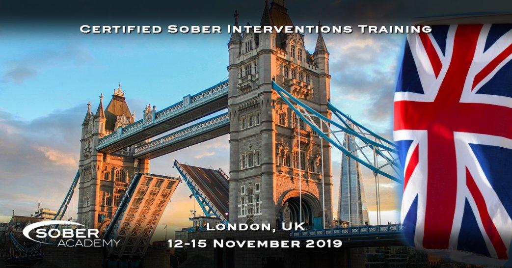 Certified Sober Intervention Training London November 2019