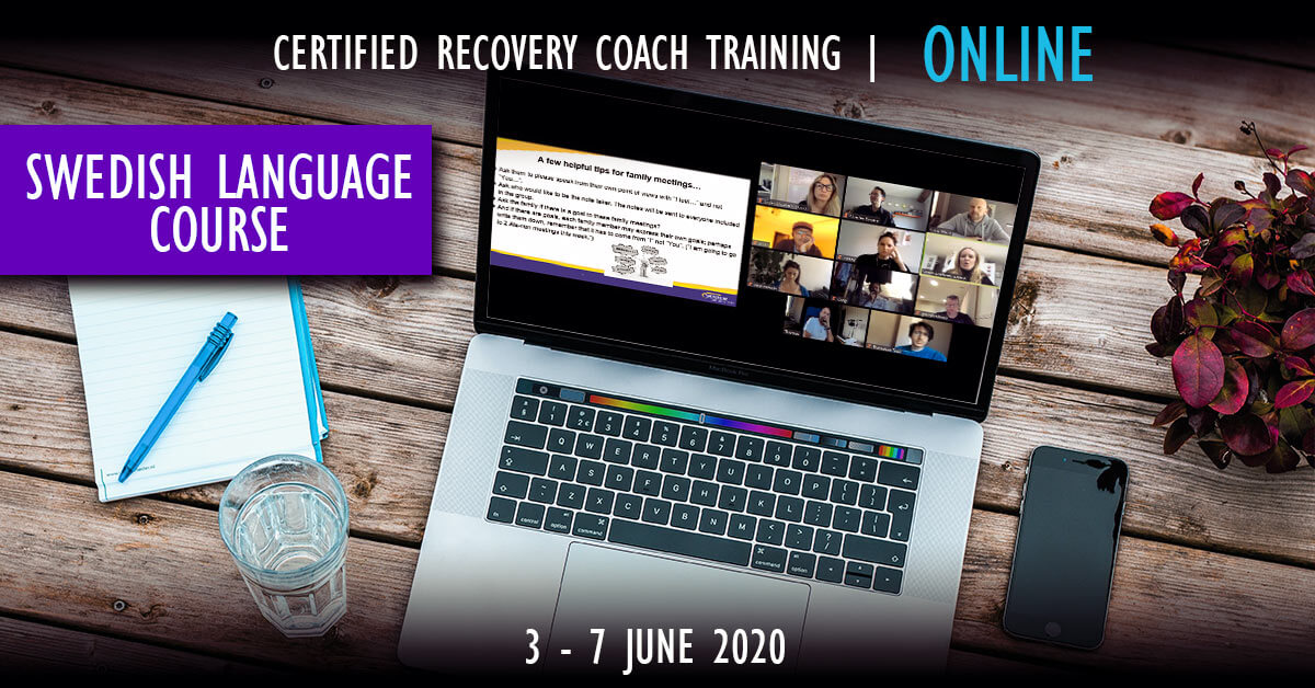 Recovery Coaching ONLINE in Swedish Language June 2020